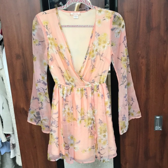 47bbe341e8 Band of Gypsies Light Pink Floral Dress